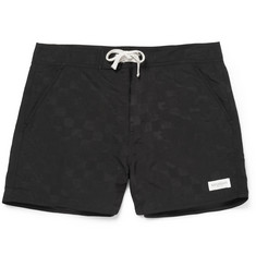 Saturdays Surf NYC Curtis Check Mid-Length Swim Shorts