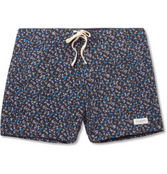 Saturdays Surf NYC Mind-Length Flower-Print Swim Shorts