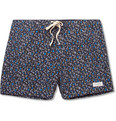 Saturdays Surf NYC Mid-Length Flower-Print Swim Shorts