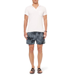Saturdays Surf NYC Mineral Mid-Length Printed Swim Shorts