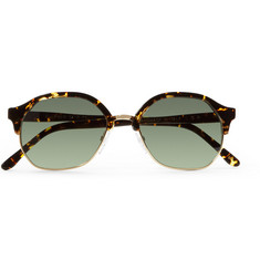 L.G.R Zanzibar Acetate and Metal Round-Frame Sunglasses