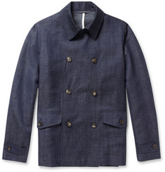 Richard James Unstructured Lightweight Wool and Linen-Blend Peacoat