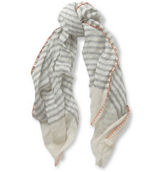 Richard James Striped Linen Scarf