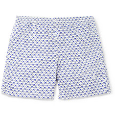 Richard James Mid-Length Monkey-Print Swim Shorts