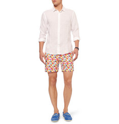 Richard James Mid-Length Spot-Print Swim Shorts