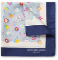 Richard James Flower-Print Silk Pocket Square
