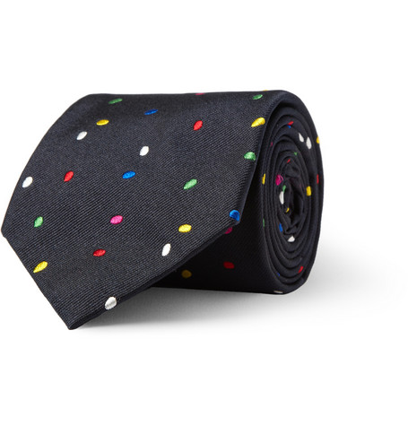 Richard James Egg-Patterned Silk Tie
