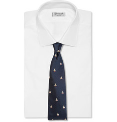 Richard James Boat-Embroidered Silk Tie