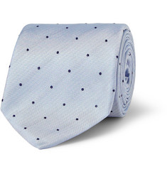 Richard James Swiss Dot-Embroidered Silk Tie