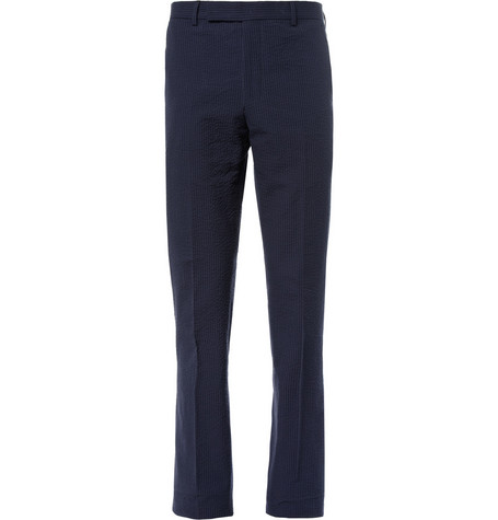 Richard James Cotton-Seersucker Suit Trousers