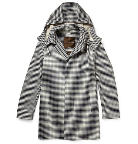 Mackintosh Dunoon Handmade Bonded-Wool Hooded Rain Coat
