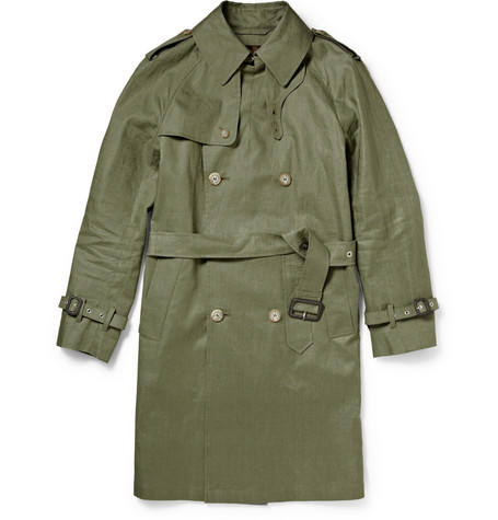 Mackintosh Coated Linen Trench Coat