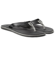 Havaianas Rubber and Leather Flip Flops