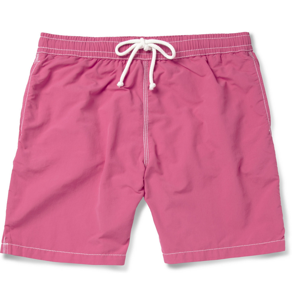 Mid-length Swim Shorts - Pink