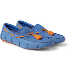 SWIMS Rubber and Mesh Tassel Loafers