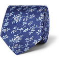 Turnbull & Asser - Flower-Patterned Woven-Silk Tie