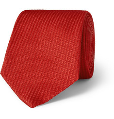 Turnbull & Asser Textured Woven-Silk Tie