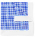 Turnbull & Asser - Check-Print Silk Pocket Square