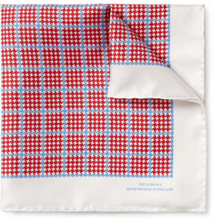 Turnbull & Asser Check-Print Silk Pocket Square