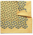 Turnbull & Asser Flower-Print Silk Pocket Square