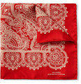 Turnbull & Asser Paisley Silk Pocket Square