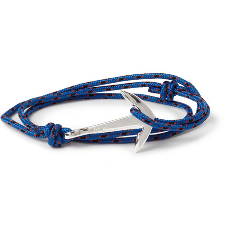Miansai Rope and Silver-Plated Anchor Bracelet