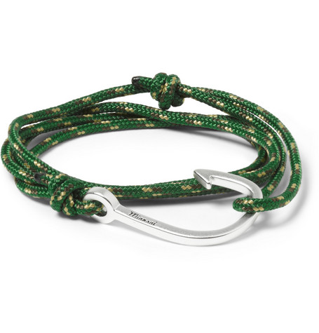 Miansai Woven-Cord and Metal Hook Wrap Bracelet