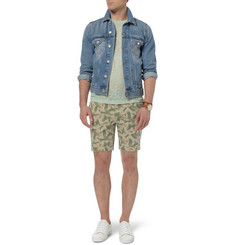 NN.07 Slim-Fit Printed Cotton-Twill Shorts