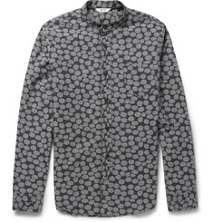 NN.07 Samuel Slim-Fit Dot-Print Cotton Oxford Shirt