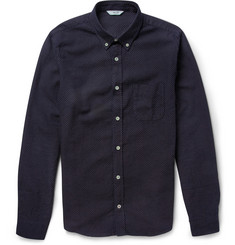 NN.07 Elvis Slim-Fit Stitched-Dot Cotton Shirt