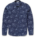 NN.07 Lindh Flower-Print Cotton-Chambray Shirt