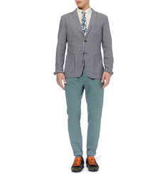 Hentsch Man Slim-Fit Unstructured Linen and Cotton-Blend Blazer