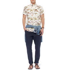 Hentsch Man Printed Short-Sleeved Cotton Shirt