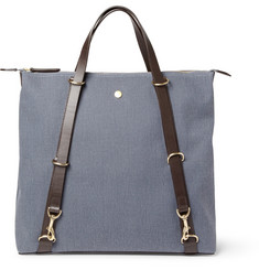 Mismo Convertible Leather-Trimmed Canvas Tote Bag