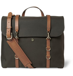 Mismo Leather-Trimmed Canvas Messenger Bag