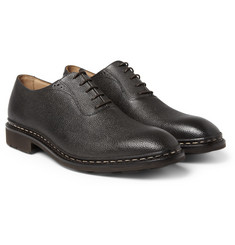 Heschung Itaya Pebble-Grain Leather Oxford Shoes