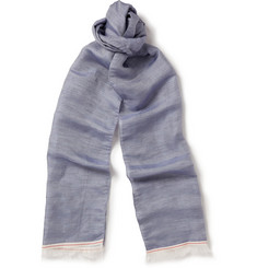 Oliver Spencer Linen and Silk-Blend Lightweight Scarf