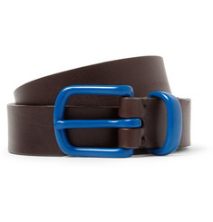Oliver Spencer Contrast-Buckle Leather Belt