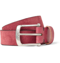 Oliver Spencer Red 2.5cm Suede Belt