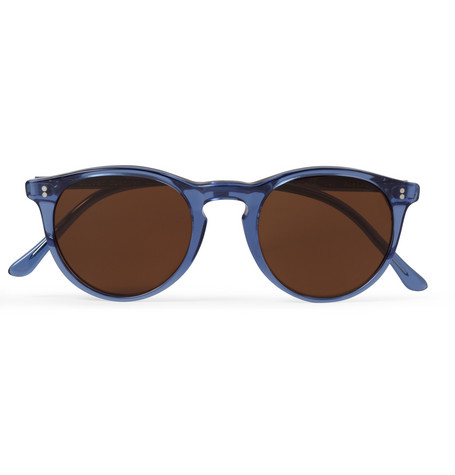 Oliver Spencer Sid Round-Frame Acetate Sunglasses
