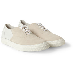 Folk Suede and Leather Sneakers