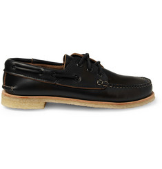 Quoddy Crepe-Sole Leather Boat Shoes