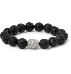 Luis Morais Diamond, White Gold and Ebony Bracelet