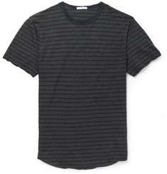 James Perse Striped Brushed Cotton-Jersey T-Shirt