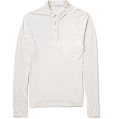James Perse Cotton and Cashmere-Blend Jersey Polo Shirt