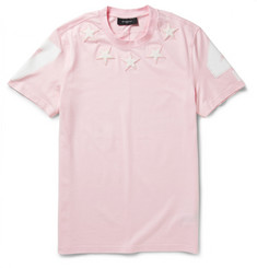 Givenchy Star-Appliquéd Cotton-Jersey T-Shirt