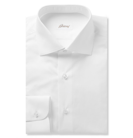 Brioni White Cotton Shirt