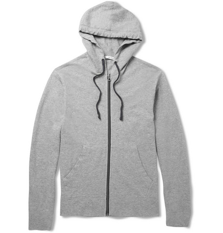 James Perse Loopback Cotton-Jersey Lightweight Hoodie