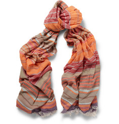 Missoni Striped Lightweight Cotton-Blend Scarf