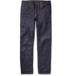 Nudie Jeans Steady Eddie Regular-Fit Organic Dry-Denim Jeans
